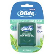 Oral-B Glide Detoxifying Mint Dental Floss Infused With Tea Tree Oil