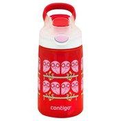 Contigo Water Bottle, Spill-Proof, Autospout, Gizmo Flip, Ruby, 14 Ounce
