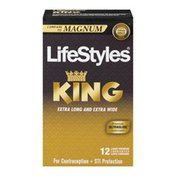LifeStyles Lubricated Latex Condoms KING