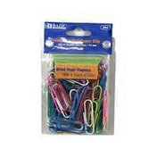 Bazic Assorted Color Vinyl Coated Paper Clips