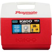 Igloo Cooler, Red, 16 Quart