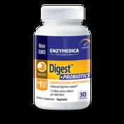Enzymedica Digest + Probiotics Digestive Enzyme Vegetarian Capsules