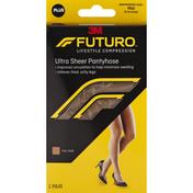FUTURO Pantyhose, Ultra Sheer, for Women, Plus, Nude