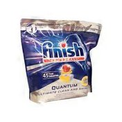 Finish Powerball Quantum Max Lemon Dishwasher Detergent Tablets