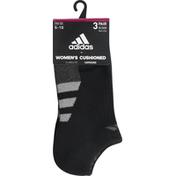 adidas Socks, Black/Onix/Clear Onix/Black-Onix Marl, No Show, Compression