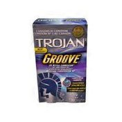 Trojan Groove Lubricated Condoms