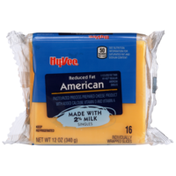 Hy-Vee American Reduced Fat Pasteurized Process Prepared Cheese Product Singles