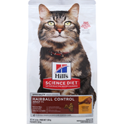 Hill's Science Diet Cat Food, Premium, Hairball Control, Chicken Recipe, Adult 7+