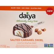 Daiya Frozen Dessert, Salted Caramel Swirl, Bar