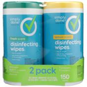 Simply Done Wipes 2 Pack, Lemon/Fresh