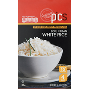 PICS White Rice, Enriched, Long Grain, Boil In Bag
