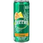 PERRIER L'Orange Flavored Carbonated Mineral Water (Lemon Orange Flavor)