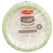 Our Family Ultra Strong & Sturdy Coated Paper Plates