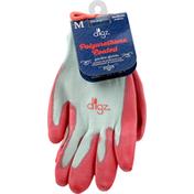 Digz Garden Gloves, Polyurethane Coated, Medium