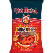 Old Dutch Rings O' Fire Hot & Spicy Cheese Flavored Corn Snack