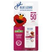 Blue Lizard Sunscreen Stick, Australian, Baby, Sesame Street, Broad Spectrum SPF 50+
