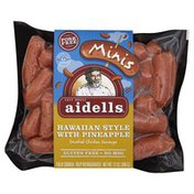 Aidells Smoked Chicken Sausage, Hawaiian Style with Pineapple, Minis