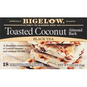 Bigelow Black Tea, Toasted Coconut Almond Bark, Tea Bags