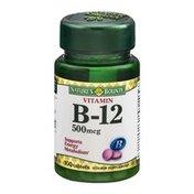Nature's Bounty Vitamin B-12 500mcg Tablets - 100 CT