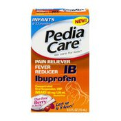 PediaCare IB Ibuprofen Pain Reliever Fever Reducer Oral Suspension Infants 6-23 Months Dye-Free Berry Flavor