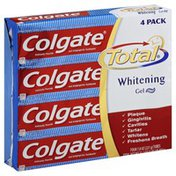 Colgate Toothpaste, Anticavity Fluoride and Antigingivitis, Whitening, Gel
