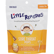 Little Remedies Sore Throat Pops for Colds, Pouch