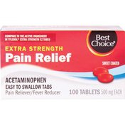 Best Choice Non-Aspirin Easy to Swallow Tablets