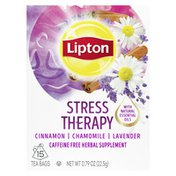 Lipton Herbal Supplement Tea Bags Cinnamon, Chamomile, And Lavender