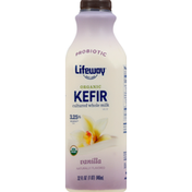 Lifeway Kefir, Probiotic, Organic, Vanilla, 3.25% Milkfat