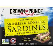 Crown Prince Sardines in Pure Olive Oil, Skinless & Boneless