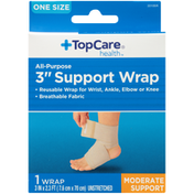 """TopCare One Size Unstretched Moderate Support All-Purpose 3"""" Support Wrap"""