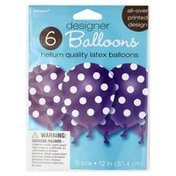 Amscan Balloons, Designer, 12 Inch, Helium Quality Latex