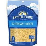 Crystal Farms Finely Shredded Cheddar Crystal Farms Finely Shredded Cheddar Cheese