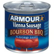 Armour Bourbon BBQ Flavored Sauce Vienna Sausage