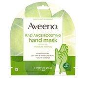 Aveeno Radiance Boosting Hand Mask 2 Single-Use Gloves