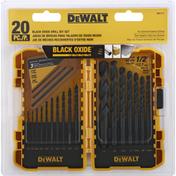 Dewalt Drill Bit Set, 20 Piece, Black Oxide