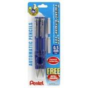Pentel Automatic Pencils, Retractable, Fine, 0.5 mm