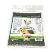 WrawP Organic Veggie Wrap-Spirulina