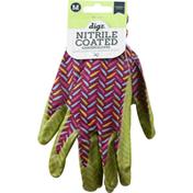 Digz Garden Gloves, Nitrile Coated, Medium