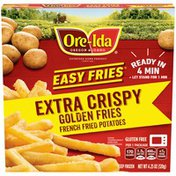 Ore-Ida Ready in 5 Extra Crispy Golden French Fries Fried Microwavable Frozen Potatoes