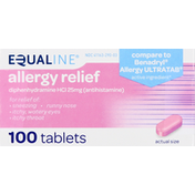 Equaline Allergy Relief, 25 mg, Tablets