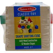 Melissa & Doug Classic Toy, Shape Sorting Cube