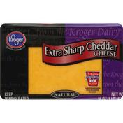 Kroger Cheese, Natural, Extra Sharp Cheddar