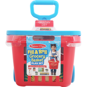 Melissa & Doug Play Set, Grocery Basket, Fill & Roll, Ages 3+