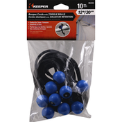 Keeper Bungee Cords, with Toggle Balls, 10 Pack