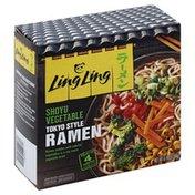 Ling Ling Tokyo Style Ramen, Shoyu Vegetable
