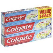 Colgate Toothpaste, Anticavity Fluoride and Antigingivitis, Whitening, Paste, Value 3 Pack