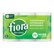 Fiora Soft & Strong Bath Tissue, Double+ Roll