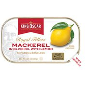 King Oscar Skinless/Boneless in Olive Oil and Lemon Mackerel