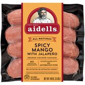 Aidells Smoked Chicken Sausage, Spicy Mango with Jalapeño, 3 lb. (15 Fully Cook